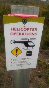 Panneau de priorité aux hélicoptère