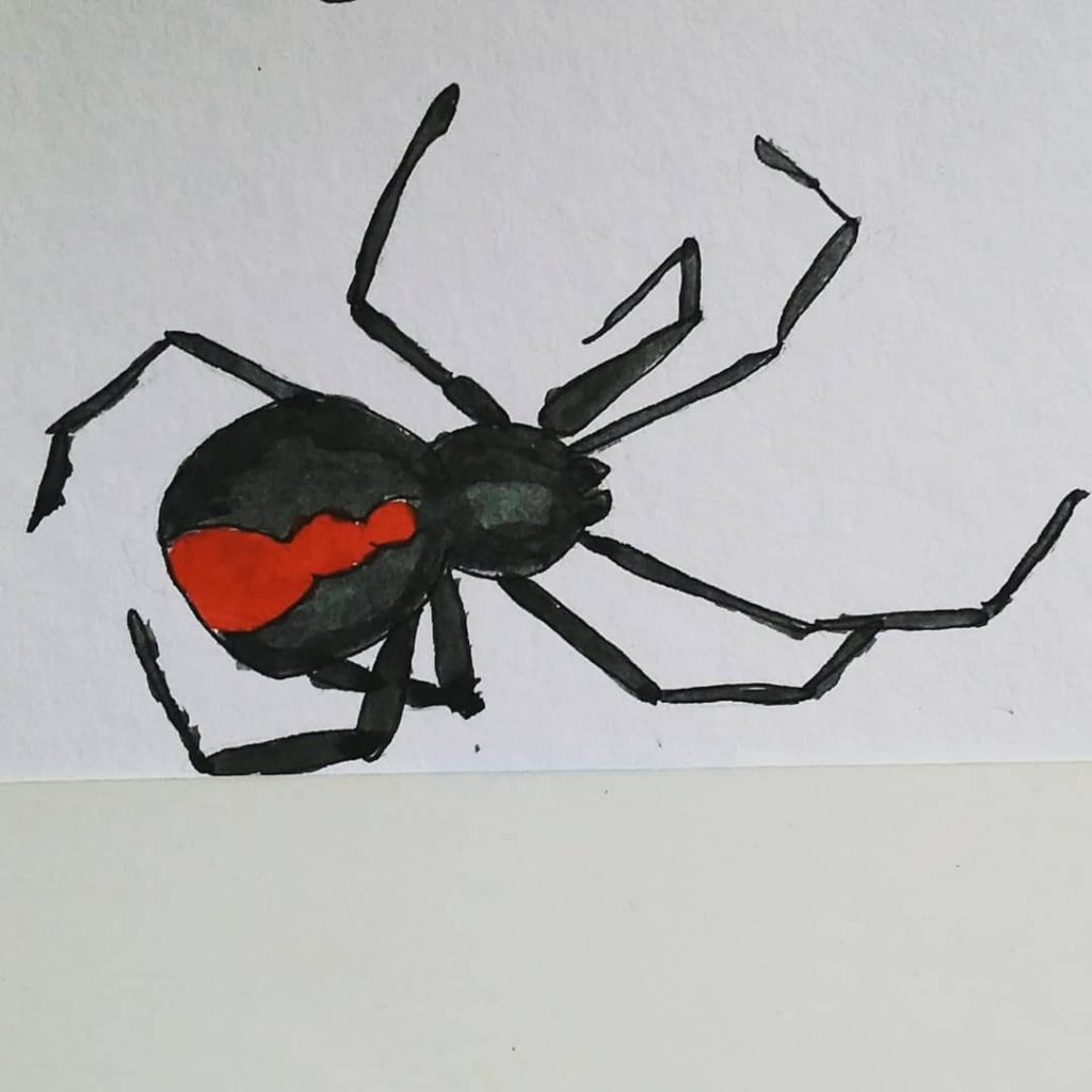 Inktober Red Back Poisonous